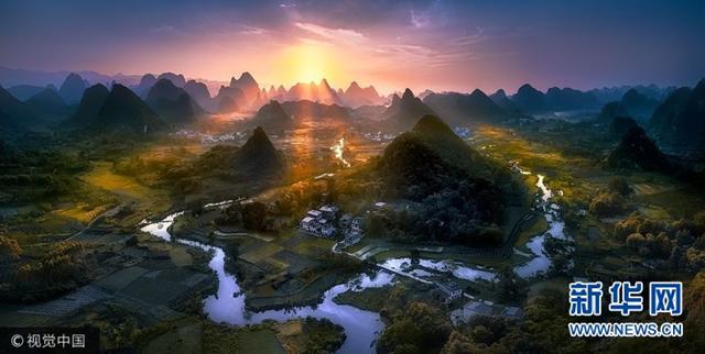 全景摄影获奖作品揭晓  中国广西日出美景获冠军