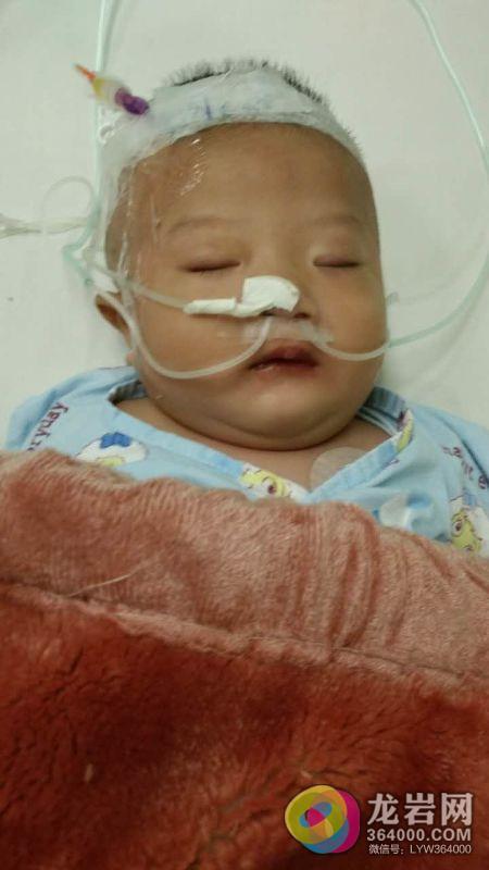 上杭县南阳镇年仅5个月的宝宝患先天性心脏病 爸爸含泪求助社会!