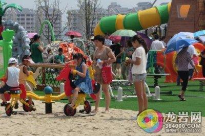 7月20日上午9點,紫金山體育公園大型兒童樂園正式開放,全新的兒童