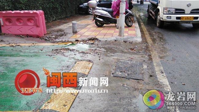 龙岩动物园垃圾直排马路续:园长称排污管被堵